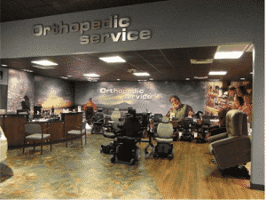 Orthopedic Service showroom with products