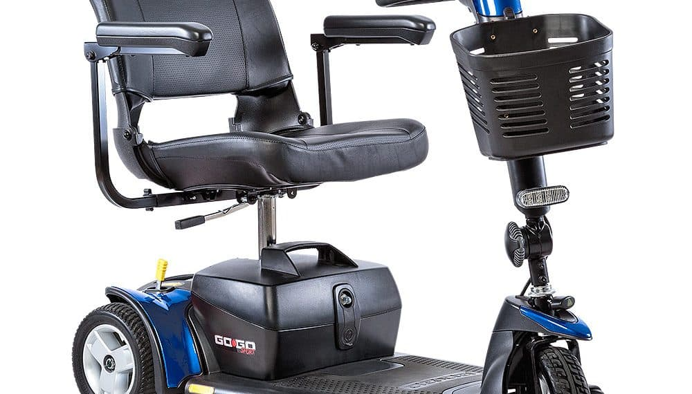 blue Pride mobility scooter