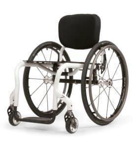 white chrome manual wheelchair