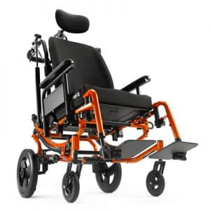 orange Solara manual wheelchair