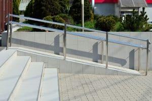 ramp handrail for wheelchair