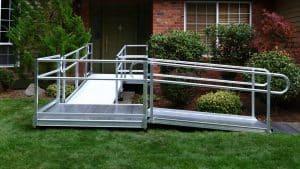 Semi permanent ramp installed in doorway