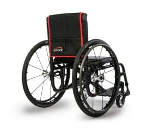 quickie rear right sunrise manual wheelchair