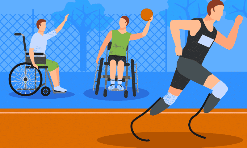 disabled person doing sports