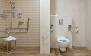 handicapped adapted bathroom