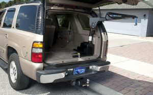 scooter lift installed inside vehicle